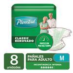 Pañ. Adulto Classic Median Plenitud Paq 8 Uni