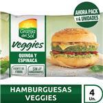 Medallones Vegetales VEGGIES   4 Uni X 105 Gr Quinoa Y Espinaca