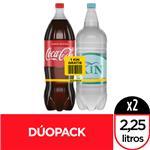 Gaseosa Coca-Cola Sabor Original 2,25 Lt + Agua De Mesa Kin Sin Gas 2,25 Lt