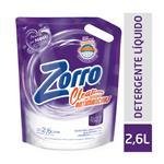Jabón Líquido Zorro Clearsist.Antimanchas Doy  2,6 Ltr