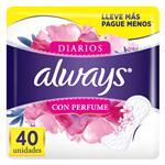Protectores Diario Con Perfume Always Paq 40 Uni
