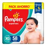 Pampers Supersec T: Xg Pampers Bsa 58 Uni