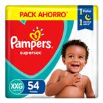 Pampers Supersec T: Xxg Pampers Bsa 54 Uni