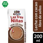 Leche Chocolatada Leche Con Cacao Tres Niñas Ttb 200 Ml
