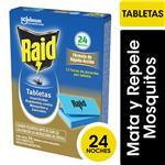 Insecticida RAID Contra Mosquitos Tabletas Repuesto 24un