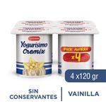 Yogur Entero Yogurisimo Cremix Vainilla Pack X4 120 Gr