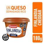 Queso Unt Light Cheddar FINLANDIA Pot 180 Grm