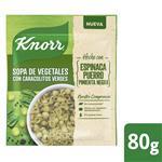 Sopa De Vegetales KNORR Con Caracolitos Verdes 80 G