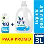 Jabón Líquido Ala Para Diluir 500 Ml + Botella 3l Reutilizable