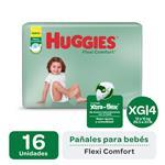 Pañales HUGGIES Flexi Comfort Xg X16