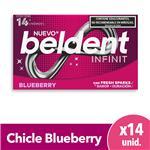 Chicles Blueberry X14 Beldent Est 26.6 Grm