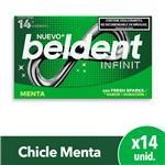 Chicles Menta X14 Beldent Est 26.6 Grm