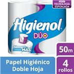 P.Higienico Dúo X4 Higienol Paq 50 Mtr