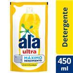 Detergente Ala Ultra Limón Y Eucalipto 450 Ml Doypack