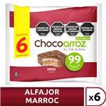 Alfajor D/Arroz Marroc X6 Chocoarroz Paq 132 Grm