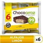 Alfajor D/Arroz Limón X6 Chocoarroz Paq 132 Grm