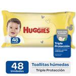 Toalla Humeda Triple Protecc Huggies Paq 48 Uni