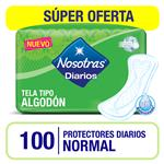 Protectores Diario Normal Nosotras Paq 100 Uni