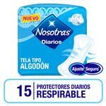 Protectores Diario Respirables Nosotras Paq 15 Uni