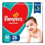 Pañal Supersec T: M Pampers Paq 26 Uni