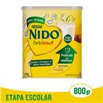 Leche E/Polvo Fortigrow Nido Lat 800 Grm
